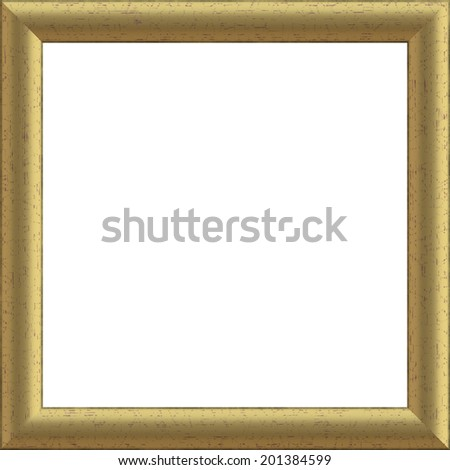 The image of a gold wooden art framework - stock photo