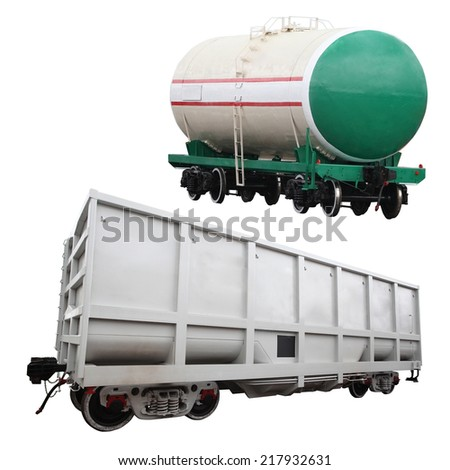 The image of a goods wagon
