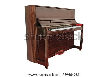 The image of a grand piano under the white background - stock photo