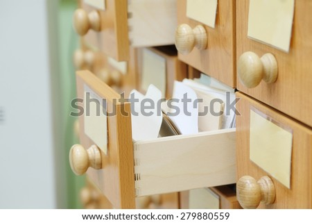 The image of a library catalog - stock photo