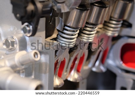 the image of a part of an engine - stock photo
