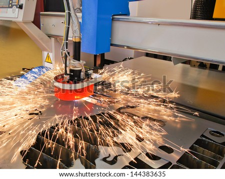 The image of a plasma cutting - stock photo