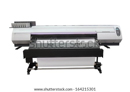 The image of a professional printing machine - stock photo