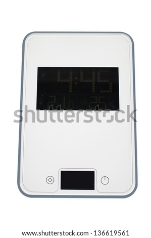 The image of a scale isolated under the white background - stock photo