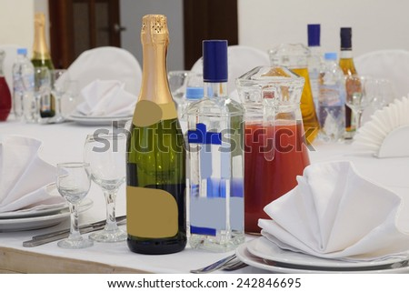 The image of a served table