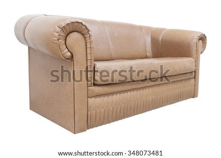 The image of a sofa isolated under the white background  - stock photo