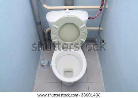 The image of a toilet room