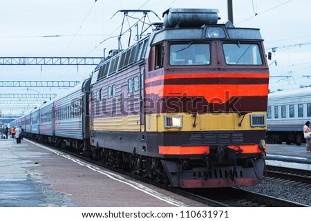 The image of a train