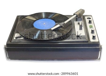 The image of a vintage record player
