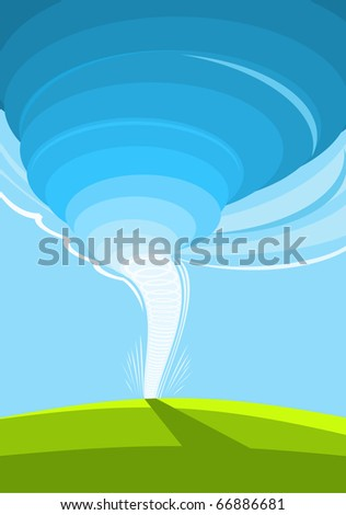 The image of a vortical air stream. - stock photo