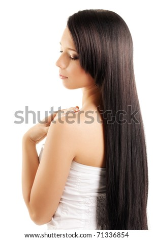 The image of a woman with a luxurious, shiny and beautiful hair - stock photo