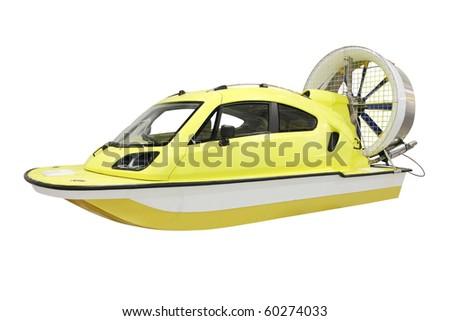 The image of aeroboat under the white background - stock photo