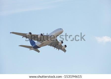 The image of an airplane - stock photo