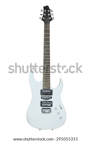 The image of an electric guitar isolated under the white background - stock photo