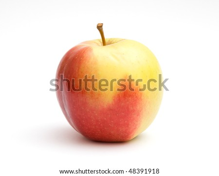 The image of apple isolated on white background