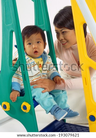 The image of baby - stock photo