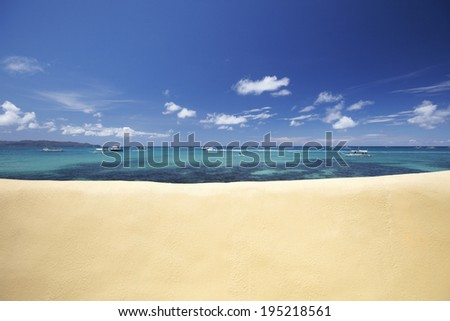 the image of beach and ocean in the Philippines