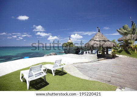 the image of beach resort in the Philippines