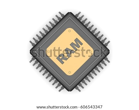 Image Black Cpu Silver Contacts Gold Stock Illustration 606543347