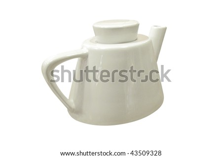 The image of brewing teapot under the white background