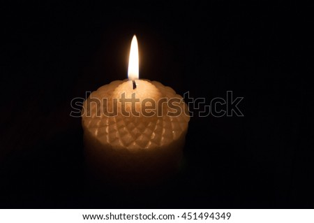 The image of burning candle