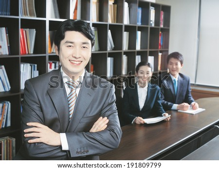 The image of business team in korea