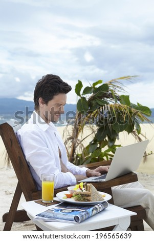 the image of businessman,Boracay in Philippine