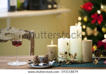 the image of Christmas candles