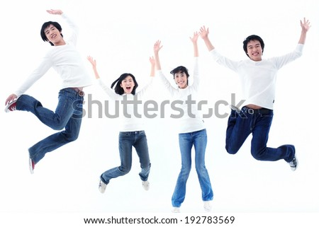 The image of college students in Korea, Asia - stock photo