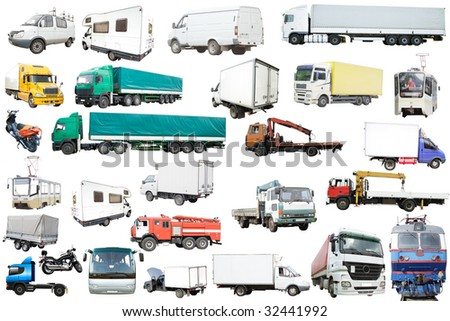 The image of difficult kinds of surface transportation - stock photo