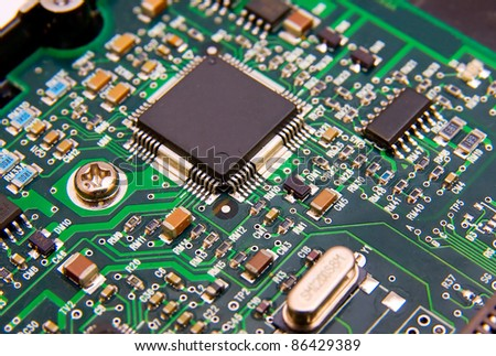 The image of electronic circuit board - stock photo