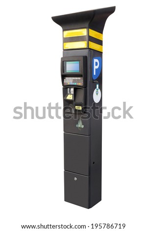 the image of Electronic parking machine - stock photo