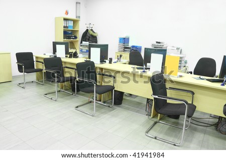 The image of empty office room