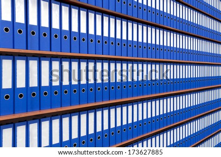 The image of file folders.  - stock photo