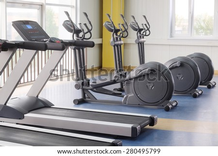 The image of fitness equipment - stock photo