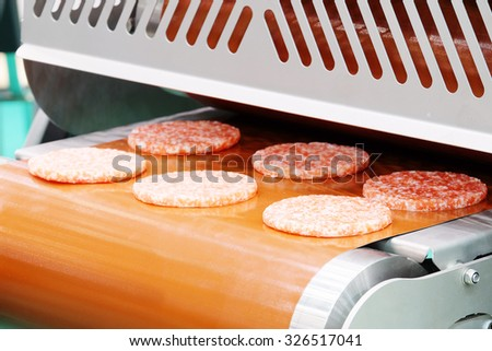 The image of food industry equipment for the production of rossole - stock photo