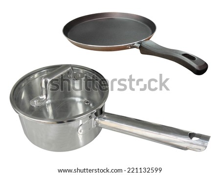 The image of frying pan under the white background