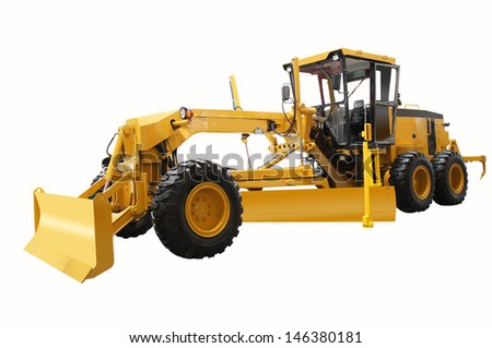 The image of grader under the white background