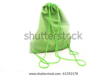 The image of green female back pack - stock photo