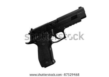 The image of gun under the white background
