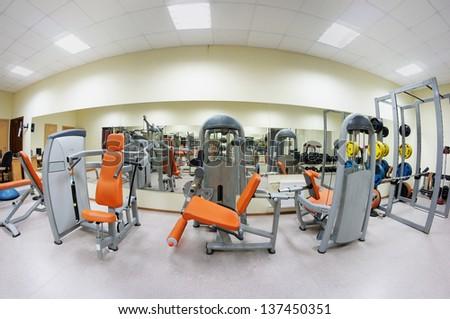 The image of gym hall - stock photo