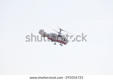 The image of helicopter - stock photo