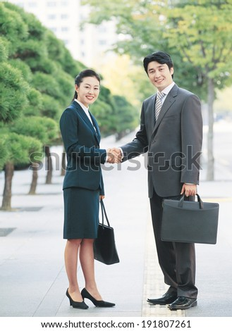The image of Korean business couple