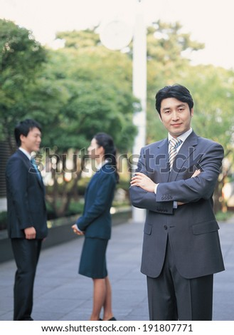 The image of Korean business man