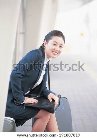 The image of Korean business woman