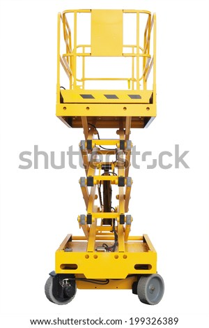 The image of lifting machine under the white background - stock photo