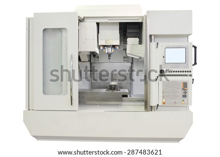 The image of metal-working machine - stock photo