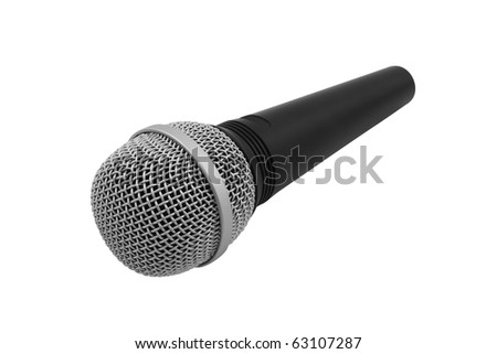 The image of microphone under the white background