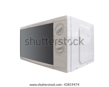 The image of microwave oven under the white background - stock photo