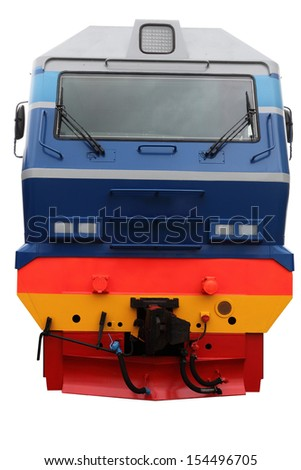 The image of modern locomotive
